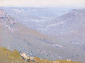 Elioth Gruner Summer haze, Blue Mountains