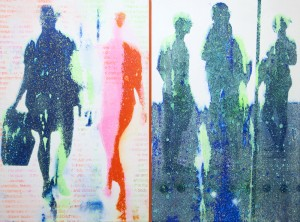 Robert Boynes - 'Hubbub' 2013 acrylic on canvas 120 x 161cm - Copy