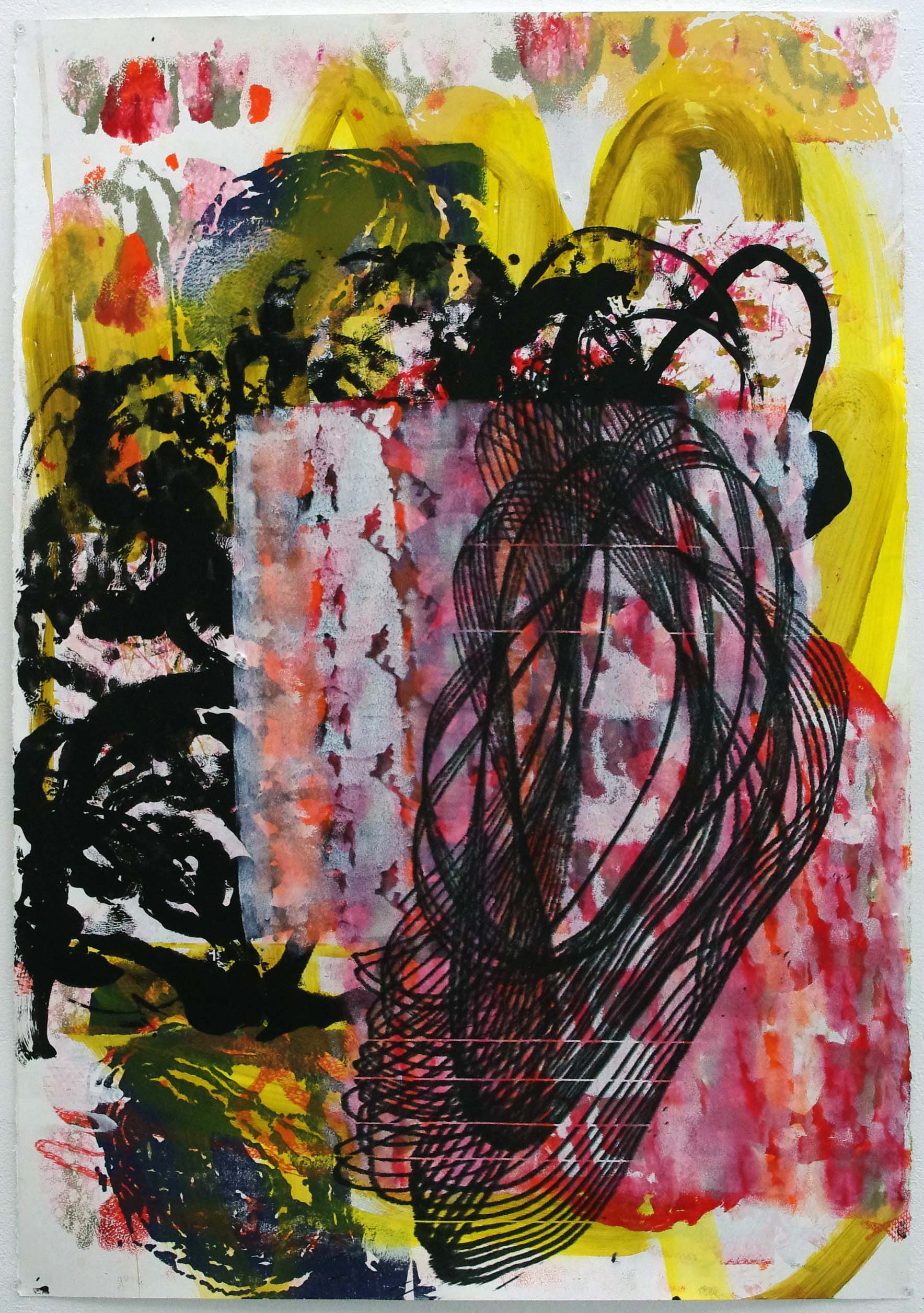IMGP3444; 110x 75 cm; acrylic and screen print on paper